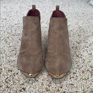 Tan booties